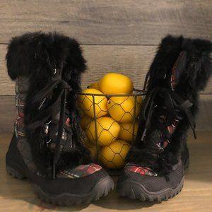 NWOT Coach Jennie Boots Tartan Plaid Rabbit Fur 6